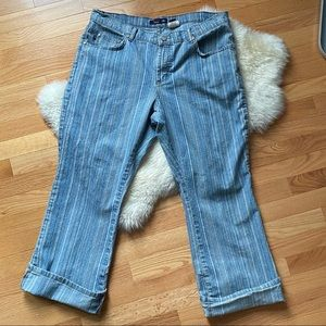 Vigoss striped cropped cuffed Jeans - 19/20